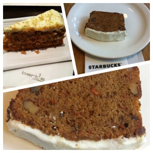 Carrot cake, by Berts ou Starbucks